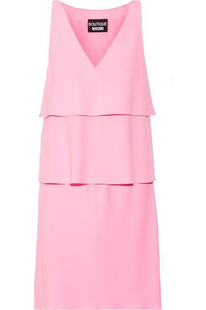 BOUTIQUE MOSCHINO Tiered stretch-crepe mini dress