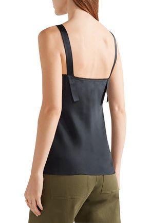 HELMUT LANG Lace-trimmed satin camisole