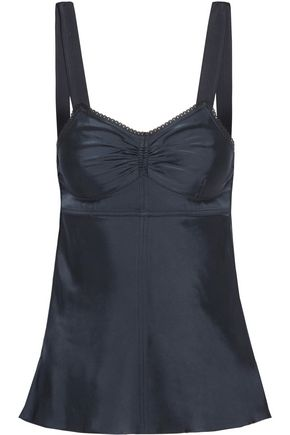 HELMUT LANG Lace-trimmed satin camisole