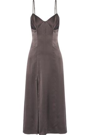 MICHELLE MASON Silk-blend satin midi dress