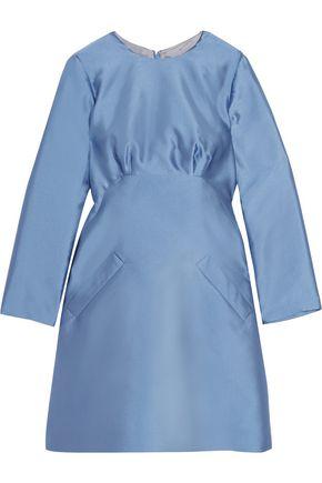 MERCHANT ARCHIVE Satin-twill mini dress