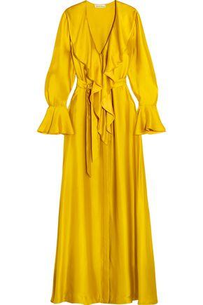 MERCHANT ARCHIVE Ruffled silk-satin gown