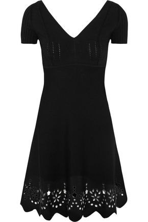 REDValentino Embroidered knitted mini dress