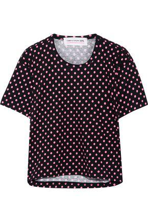 COMME DES GARÇONS GIRL Polka-dot cotton-jersey T-shirt