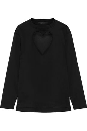 PROENZA SCHOULER Cutout bonded cotton-jersey top