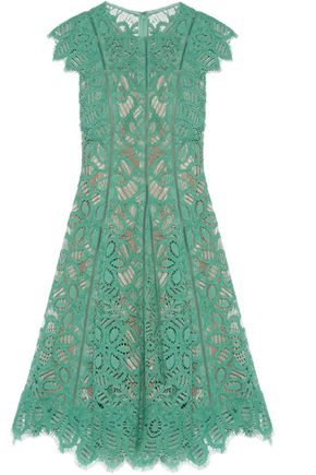 LELA ROSE Corded lace dress