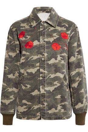 OPENING CEREMONY Tigers Coach appliquéd camouflage-print cotton-canvas jacket
