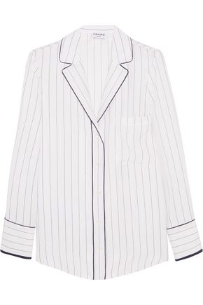 BY FRAME Striped silk shirt