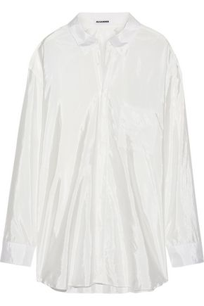 JIL SANDER Oversized satin shirt