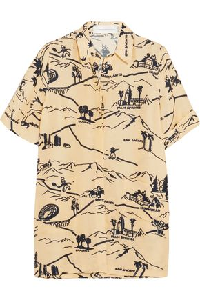 VICTORIA, VICTORIA BECKHAM Printed canvas shirt