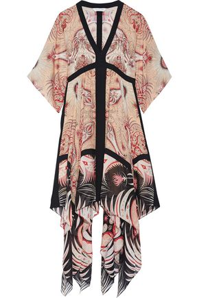 RACHEL ZOE Miranda asymmetric printed silk midi dress