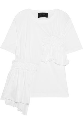 SIMONE ROCHA Ruffled cotton-jersey T-shirt
