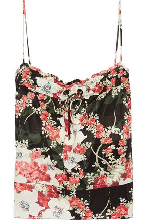 RAG & BONE Floral-print twill top