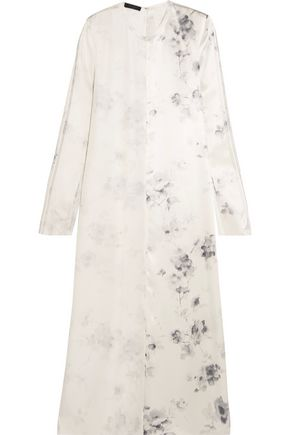 CALVIN KLEIN COLLECTION Larrew floral-print silk crepe de chine dress