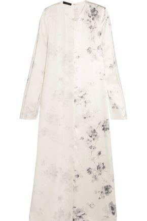 CALVIN KLEIN COLLECTION Larrew floral-print silk crepe de chine dress