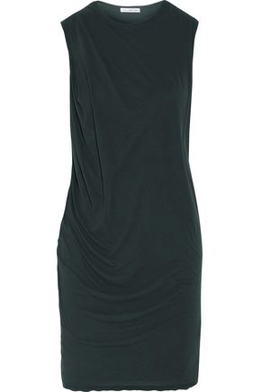 JAMES PERSE Draped cotton-jersey mini dress