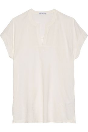 JAMES PERSE Cotton and linen-blend T-shirt