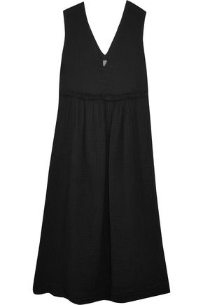 RAQUEL ALLEGRA Cotton-gauze midi dress
