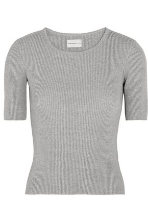 SIMON MILLER Sabine ribbed cotton-blend T-shirt