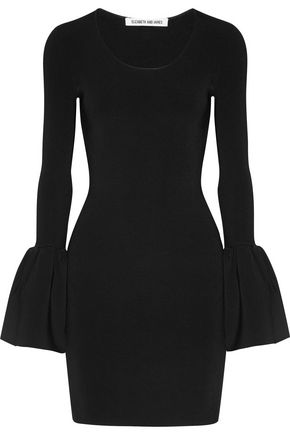 ELIZABETH AND JAMES Willomina ribbed-knit mini dress