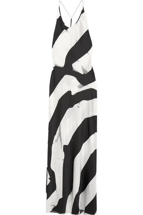 ANN DEMEULEMEESTER Beaded printed silk-blend maxi dress