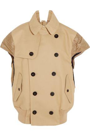 SACAI Shell-paneled cotton jacket