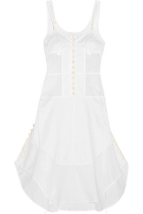 CHLOÉ Button-detailed cotton-voile dress