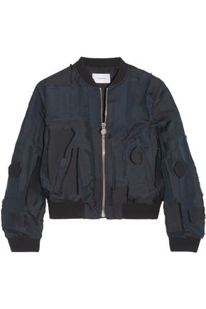 CARVEN Patchwork taffeta bomber jacket