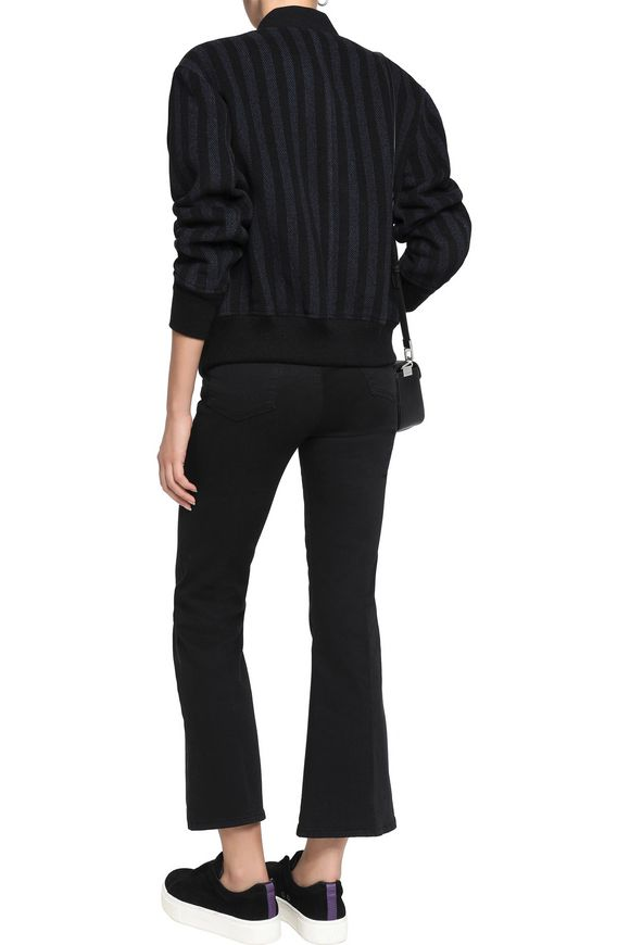 Striped wool-blend bomber jacket | T by ALEXANDER WANG | Sale up to 70% off  | THE OUTNET