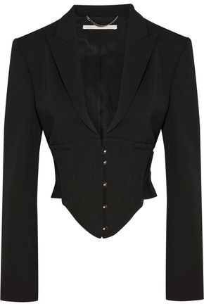 STELLA McCARTNEY Cropped cutout wool jacket