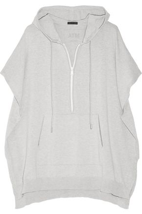 ATM Cotton-blend hooded top