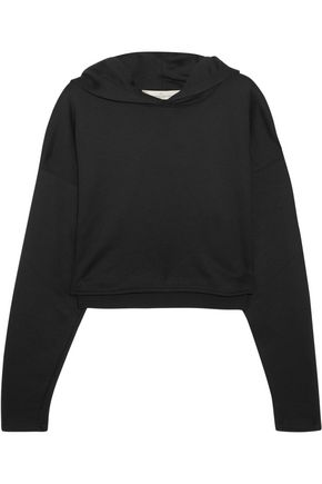 GOLDEN GOOSE DELUXE BRAND Cropped jersey hooded top