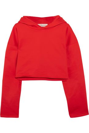 GOLDEN GOOSE DELUXE BRAND Cropped cotton-jersey hooded top