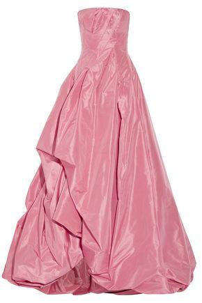 OSCAR DE LA RENTA Ruffled silk-faille gown