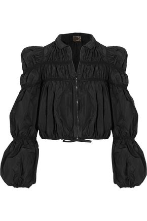 GIAMBATTISTA VALLI Ruched taffeta jacket