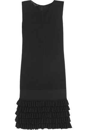 GIAMBATTISTA VALLI Ruffled wool, silk and cashmere-blend dress