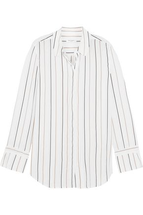 EQUIPMENT Holly striped washed-silk shirt
