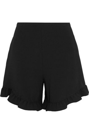 SEE BY CHLOÉ Ruffle-trimmed crepe shorts