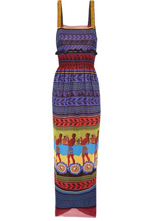 MARY KATRANTZOU Hemera printed silk-georgette dress