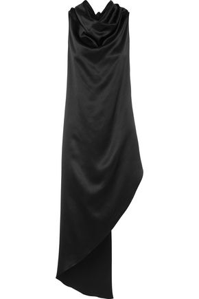 JUAN CARLOS OBANDO Asymmetric draped silk-charmeuse tunic