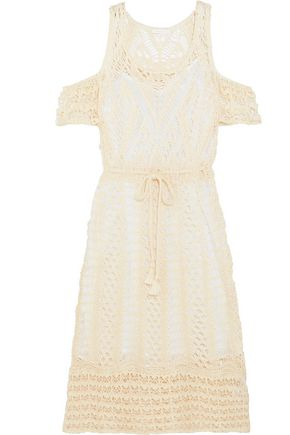 SEE BY CHLOÉ Cold-shoulder crocheted lace cotton dress