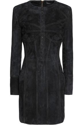 BALMAIN Suede mini dress