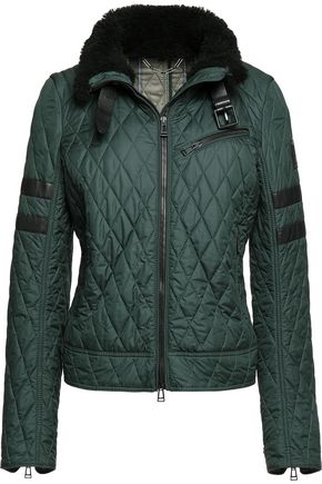 BELSTAFF Halifax shearling-trimmed quilted shell jacket