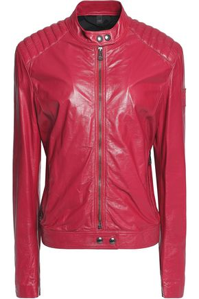 BELSTAFF Saxby textured-leather biker jacket