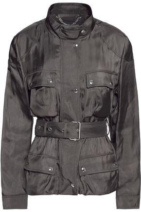 BELSTAFF Stafford belted satin-twill jacket
