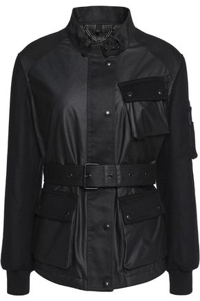 BELSTAFF Addie faux leather-trimmed quilted cotton jacket