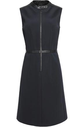 BELSTAFF Shelley leather-trimmed scuba-knit mini dress
