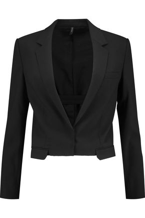 HELMUT LANG Cropped wool-blend twill jacket