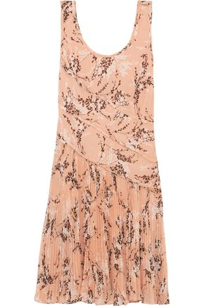 JASON WU Pleated printed silk-chiffon dress