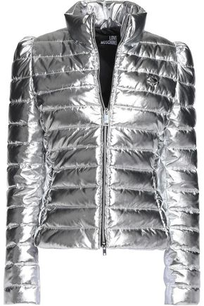 LOVE MOSCHINO Metallic quilted shell jacket